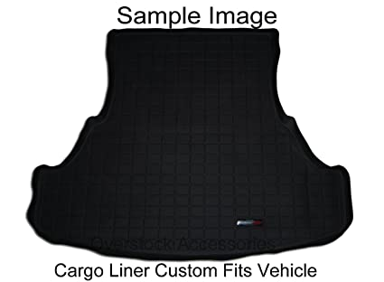 Black WeatherTech Custom Fit Cargo Liners for Toyota Prius