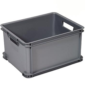 Curver Caja de Almacenamiento de plástico apilable, Muy Resistente, 35 x 43 x 24