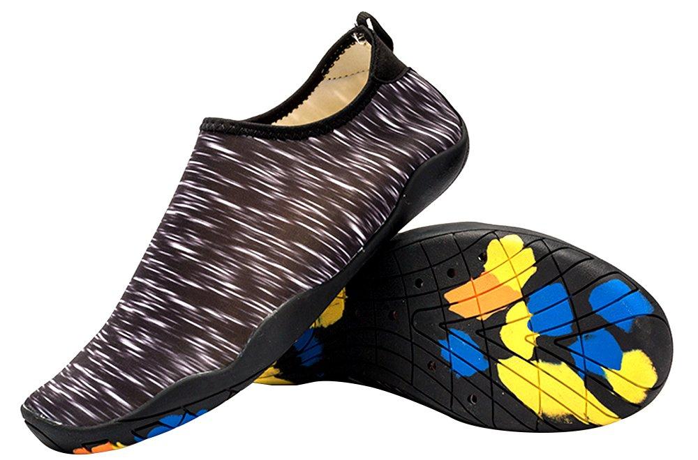 cheap for discount dfd58 8e0cd DUOLUNSI Zapatos de agua Zapatos de piel Calcetines de aguamarina de secado  rápido Zapatos descalzos para la playa de natación Surf Yoga Negro