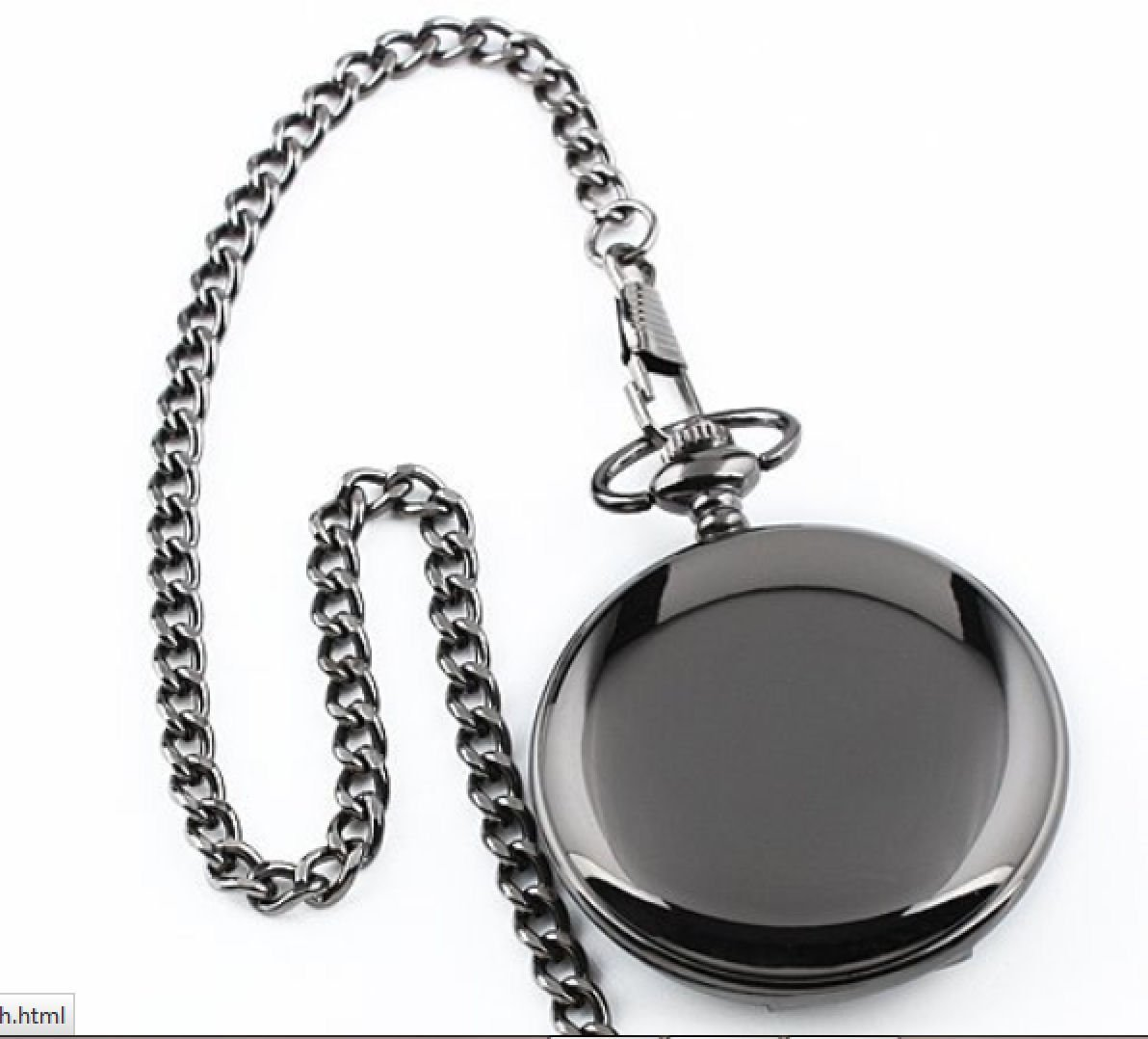 Personalized Gunmetal Pocket Watch Engraved Free