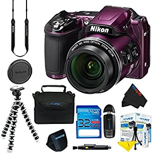 Nikon COOLPIX L840 Digital Camera (Purple) + 16GB Pixi-Basic Accessory Kit