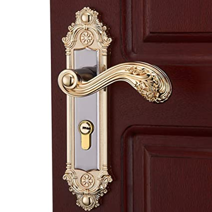 ZHFC Cerradura de Lujo de Hardware para Interiores - Cerraduras de Puerta duraderas de Hardware de