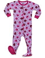 Leveret Baby Girls Footed Sleeper Pajama 100% Cotton (Size 6M-5 Years)