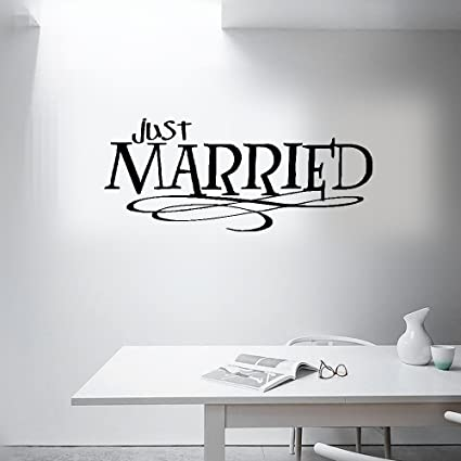 Amazon Earck Wall Sticker Quotes Just Married Quotes Wall Magnificent Just Married Quotes