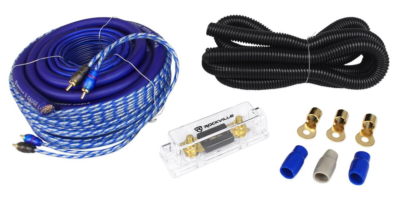Amazon.com: Rockville RWK01 0 Gauge Complete Car Amp Wiring ...