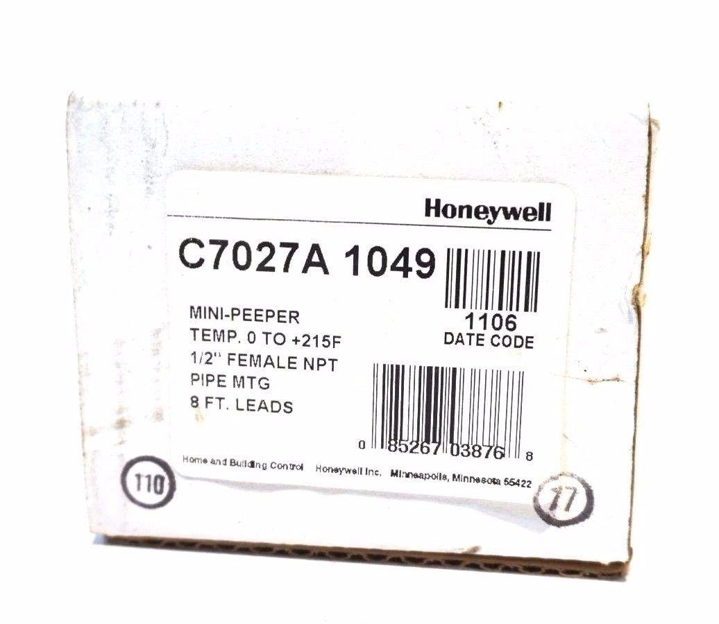 Honeywell C7027A1023//U Ultraviolet Flame Sensor 0 Degree F to 125 Degree F Temperature Range Mini-Peeper