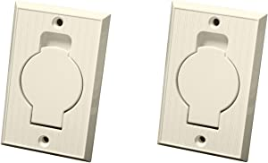 TacPower (2) Central Vacuum Wall Hose Inlet Almond Beige for Beam - New