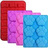 FineGood 4 st silikon godis chokladformer, hundtassar och benformade iskubbrickor kakor bakformar för att göra frysta…