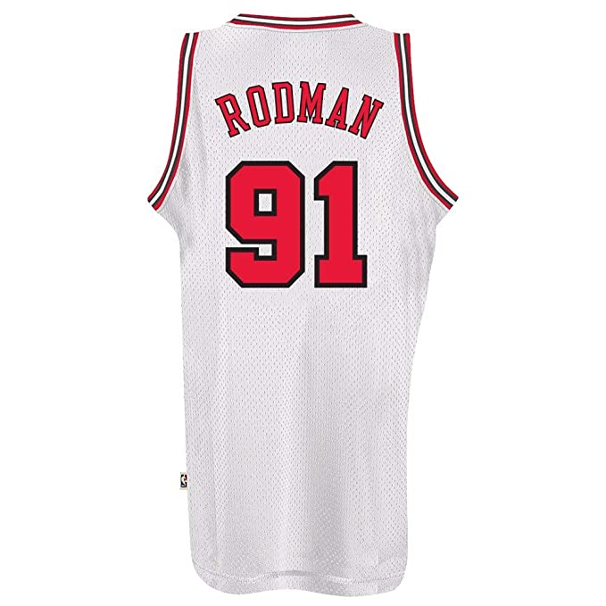Adidas Dennis Rodman Chicago Bulls NBA Throwback Swingman Jersey - Color Blanco, Blanco: Amazon.es: Deportes y aire libre
