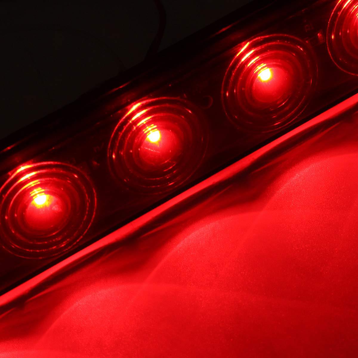 HEHEMM 11 LED Strip Lamp Truck Trailer Tractor Light Bar Stop Turn Tail Brake Light 12V Red