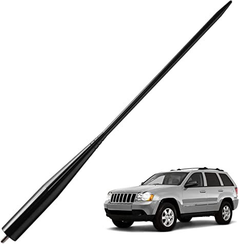 JL /& JLU 2007-Present JKU 5.25 inches Black JAPower Replacement Antenna Compatible with Jeep Wrangler JK