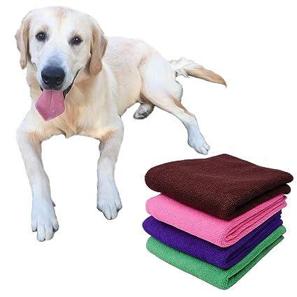 2pcs suave fibra de gato de gato de cachorros de perros de cuidado de paño de
