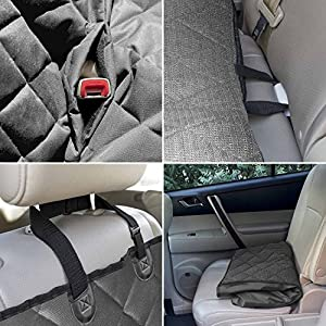 Perfect Pet Seat Cover - Dog and Cat Car Seat Cover/Hammock - Waterproof and Machine Washable - Non-Slip Quilted Technology to Protect Seats in Cars, Trucks, SUVs and Vans From Stains and Hair