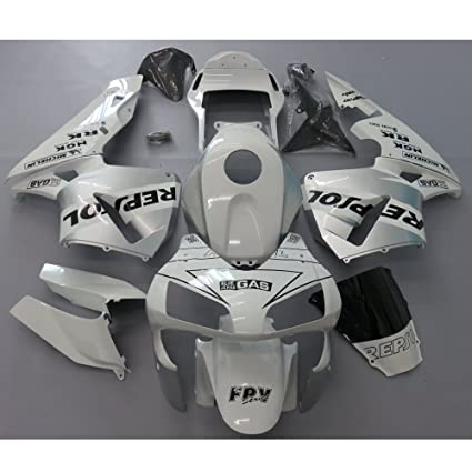Amazoncom Zxmoto White Silver Painted Fairing Kit For Honda Cbr
