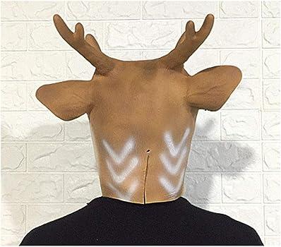 Sika máscara de Ciervo, Casco de Cabeza de Animal, máscara de ...