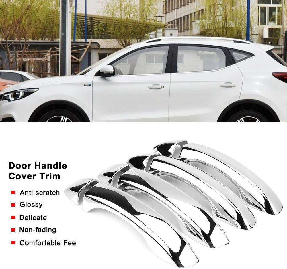 Vobor 8pcs Car Chromium Electroplating Door Handle Cover Trim Compatible with MG Zs Suv 2018 2019 Handle Cover Trim