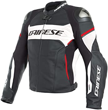 Dainese - Chaqueta de piel Racing 3 D-AIR, color negro y ...