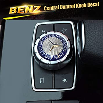 Mercedes Emblem Interior Multimedia Control Decal Sticker Badge Decoration Logo