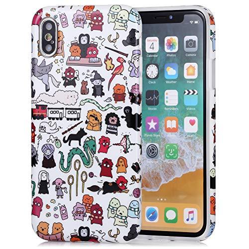 Unique Designer Slim Fit Phone Case Cover for Apple iPhone X (2017)/ iPhone Xs (2018) - Harry Potter Doodle