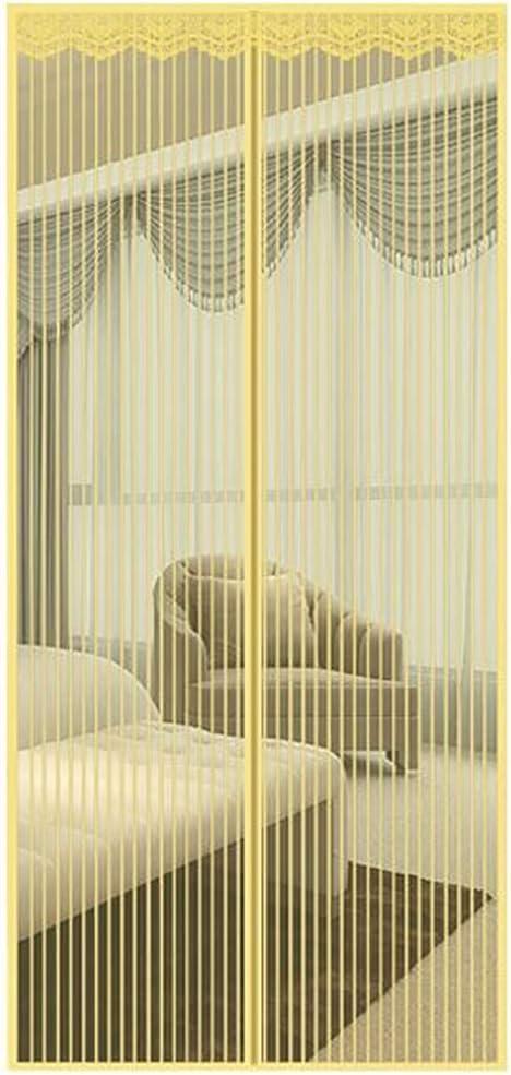 Cortina magnética Cortina magnética de poliéster Cortina ultra silenciosa Cifrado Puerta cortafuego Control antiplagas Puerta suave magnética - Beige 100CMx200CM