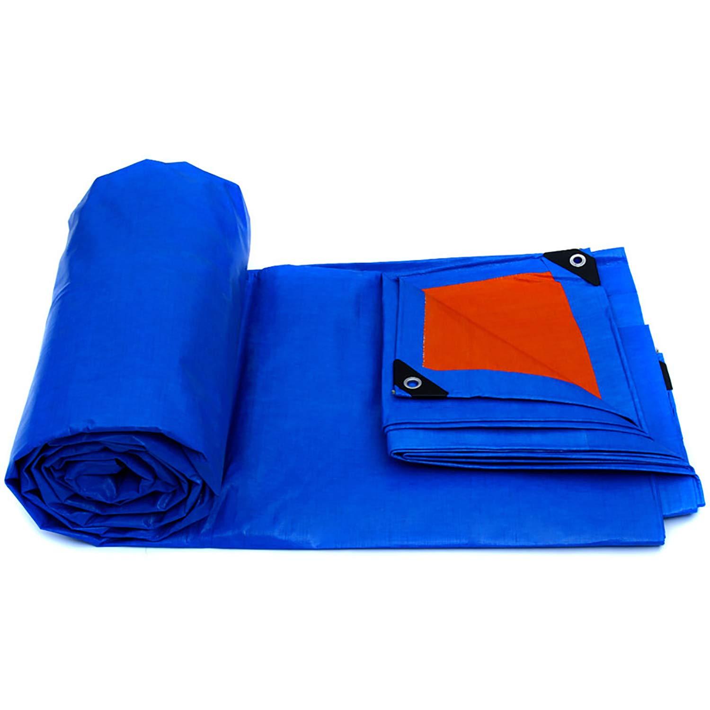 HSBAIS 防水シート防水カバー、防水地上テントトレーラーカバー、多目的 ポリターポリン、複数サイズの大型ターポリン、屋外リバーシブル,Blue_10x8m B07PCHJR4G Blue 10x8m