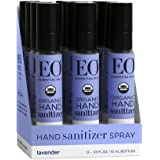 Eo Hand Sanitizer Spray- Organic Lavender, 0.33-Ounce (Pack of 4)