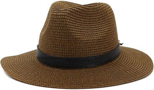 KFEK Sombrero de Paja al Aire Libre Junto al mar Visera Sombrero ...