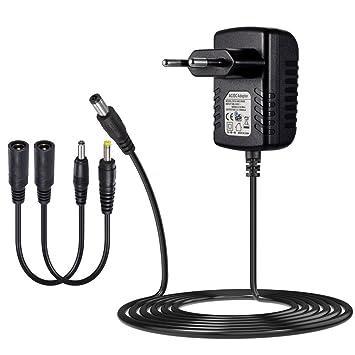 SoulBay Cargador Adaptador de Corriente Negro Adaptador de CA 6V 1A con cable de alimentación de