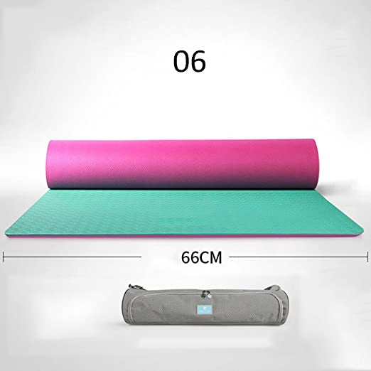 6mm Beginners Yoga Mat Hombres y Mujeres Sports Mats Fitness ...