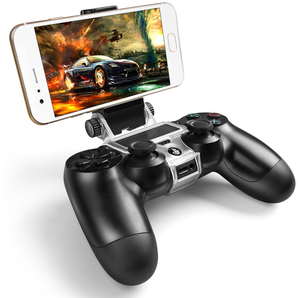 PS4 Wireless Controller Phone Clip Holder Clamp Mount Stand Bracket for Playstation 4 by ICESPRING