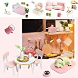 Spilay DIY Dollhouse Wooden Miniature Furniture