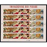 Thanksgiving Day Parade Sheet of 20 x 44-Cent Stamps, U.S. 2009, Scott 4417-4420