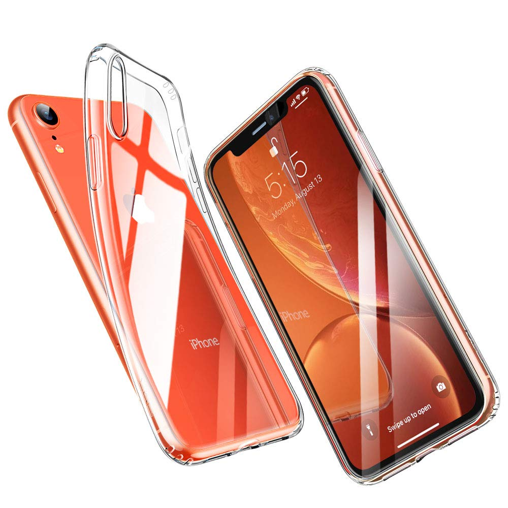 newest 8bf5c c7b7d ESR Clear Case for iPhone XR, Thin Slim Soft TPU Silicone Flexible Cover  [Supports Wireless Charging] for the iPhone XR 6.1