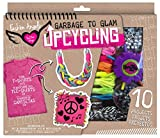 Reuse, restyle and rewear your old t-shirts with the Upcycling T-shirt Kit! The Inspiration booklet includes ideas on how to make pillows, jewelry fashion and more! Kit contains; metallic cord, suedette cord, sequin trip, braided cord, Braidz...
