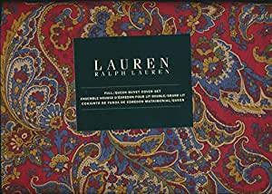 Amazon Com Ralph Lauren Damask Paisley 3pc Full Queen