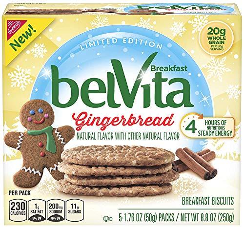 Belvita Seasonal Gingerbread Breakfast Biscuits, 8.8 Ounce, (Pack of 3)