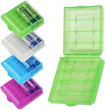 Fliyeong - Caja de Almacenamiento para 4 Pilas (plástico Duro ...