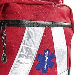 Basic Medical Supply BMS-2S 135228salvavidas Mochila Impermeable, color rojo 4