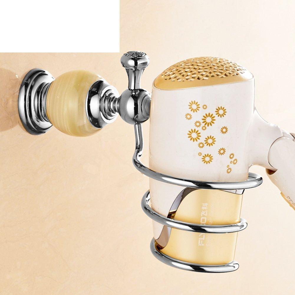 銅Barber Shopヘアドライヤーラック/アンティークソリッド壁/バスルームヘアドライヤーholder-l   B01MT51IOF