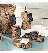 Climbing Black Bears Bath Set - Set of 4