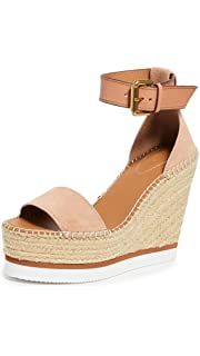 69ed6505a8e Amazon.com  See by Chloe Women s Glyn Wedge Floral Espadrille Sandal ...