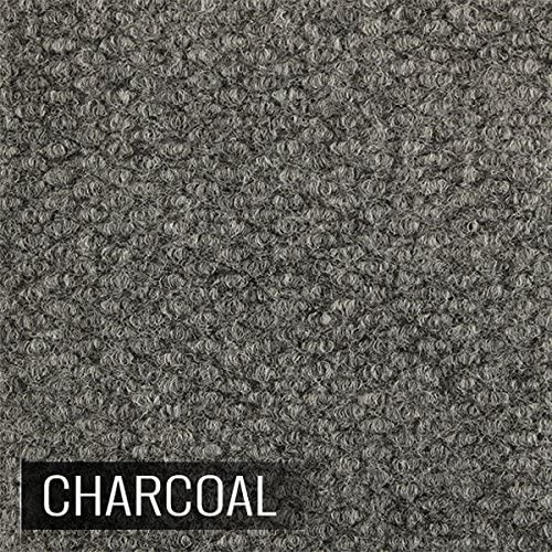 20 Sq Ft IncStores Carpet-Loc Modular Carpet Top Flooring 12 x 12 Snap Together Floor Tiles Charcoal, 20 Pack