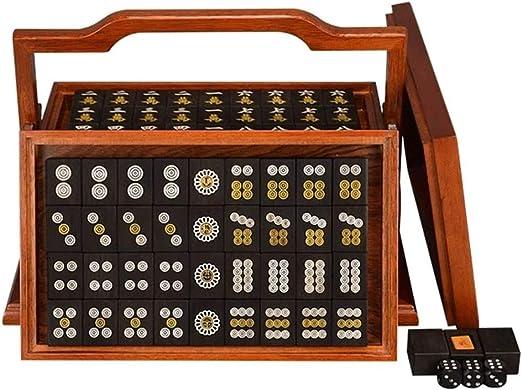 Hammer Mahjong Juego Negro Ebony, 144 con Mat Caja ang Dados - en ...
