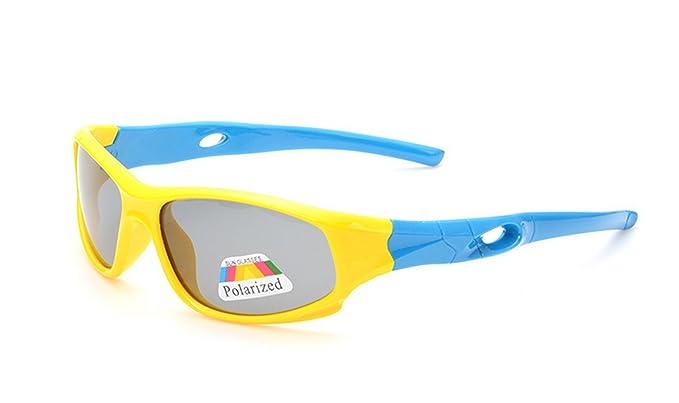 Goma flexible niños polarizadas gafas de sol Wayfarer Shade para bebé y niño, 3 –