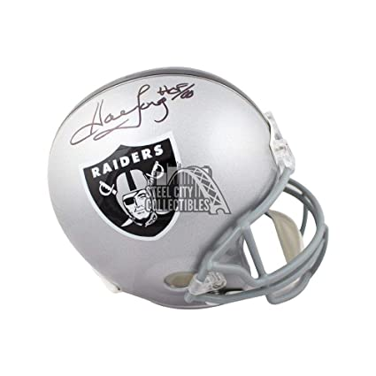 ce3fb1fd408 Image Unavailable. Image not available for. Color  Signed Howie Long Helmet  - HOF Full Size COA - JSA ...