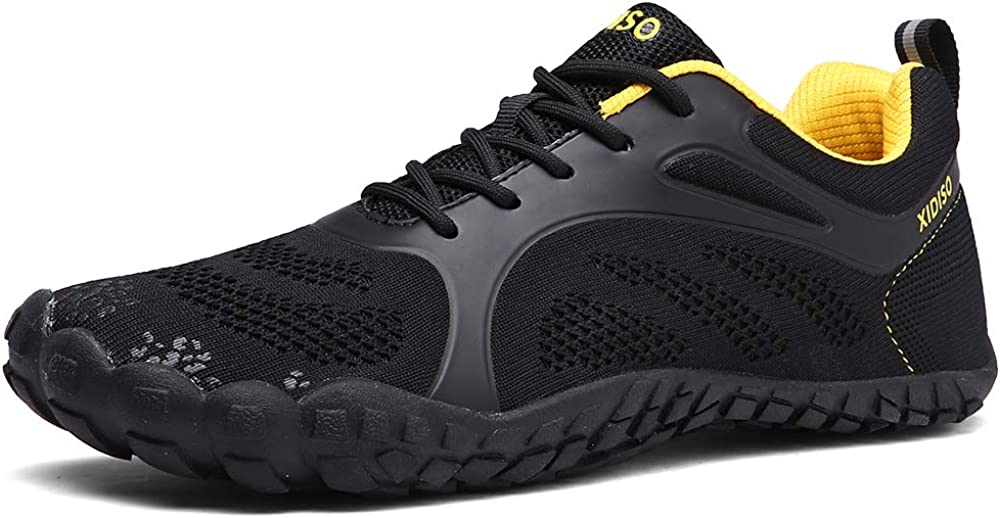 XIDISO Mens Minimalist Barefoot Trail Running Shoes Womens Wide Toe Cross Training Gym Walking Hiking Shoe Athletic Sneakers