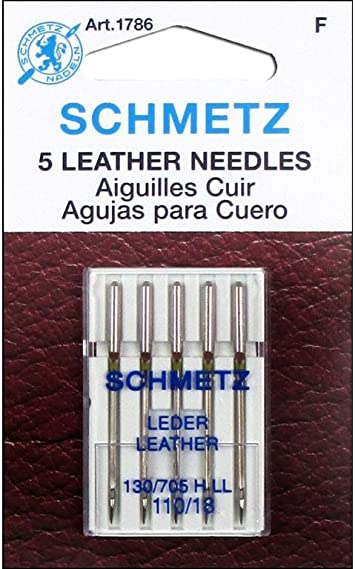Euro-Notions 1786 Leather Machine Needles-Size 110-18 5-Pkg