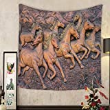 Grace Little Custom tapestry low relief cement thai style handcraft of horse on wall