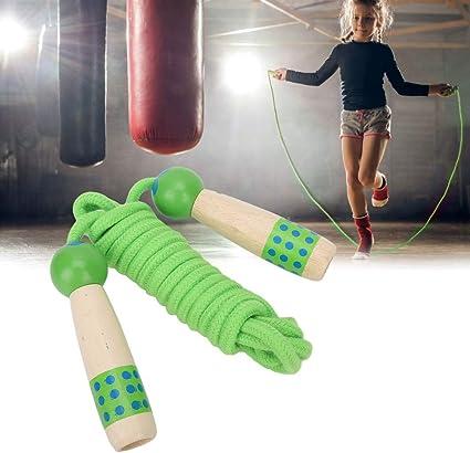 environ 2.13 m environ 22.86 cm 9 in En bois Corde à Sauter Corde Enfants Exercise Jumping Fitness Boxe Gym Neuf 7 ft
