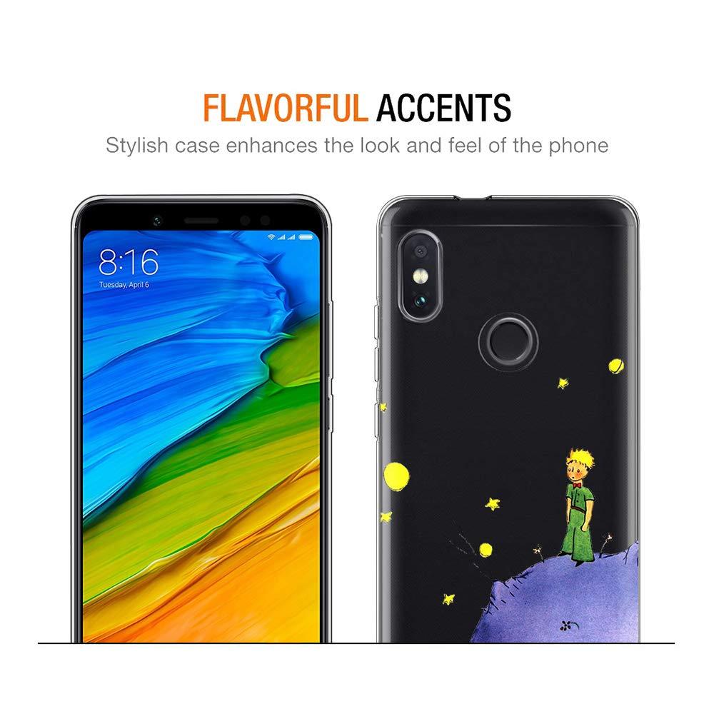 El Principito YOEDGE Funda Xiaomi Redmi Note 5 Ultra Slim C/árcasa Silicona Transparente con Dibujos Animados Dise/ño Patr/ón P/úrpura Resistente Bumper Case Cover para Xiaomi Redmi Note 5 Smartphone
